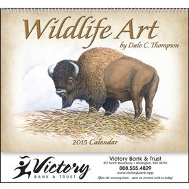 Wildlife Art Calendar by Dale Thompson Branded with Your Logo