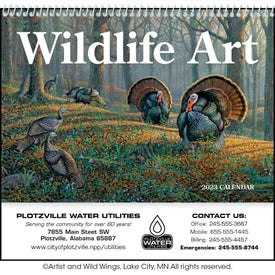 Advertising Wildlife Art Pocket Calendar