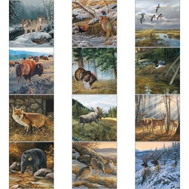 Personalized Wildlife Art Executive Calendar