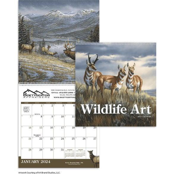 "Wildlife Art Executive Calendar (12"" x 25"", 2020)"