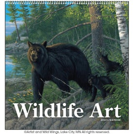 "Wildlife Art Executive Calendar (12"" x 25"", 2017)"