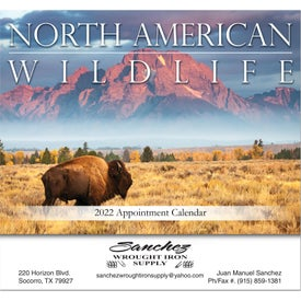 North American Wildlife Stapled Wall Calendar for Your Organization
