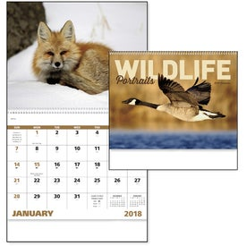 Wildlife Portraits Spiral Calendar for Promotion
