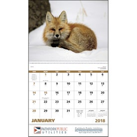 Wildlife Portraits Spiral Calendar Printed with Your Logo