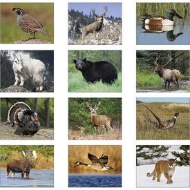 Monogrammed Wildlife Portraits Spiral Calendar