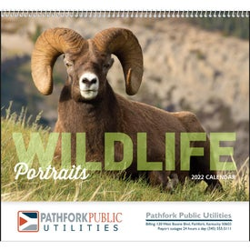 Company Wildlife Portraits Spiral Calendar