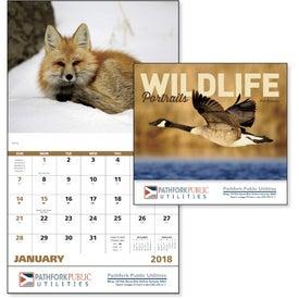 Wildlife Portraits Stapled Calendar with Your Logo