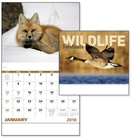 Wildlife Portraits Stapled Calendar Branded with Your Logo