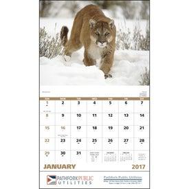 Advertising Wildlife Portraits Stapled Calendar