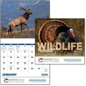 Wildlife Portraits Stapled Calendar (2020)