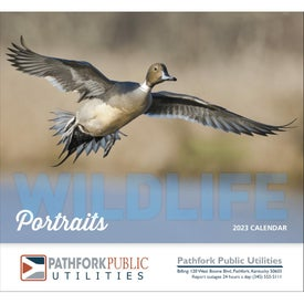 Wildlife Portraits Stapled Calendar (2017)