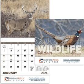 Wildlife Portraits Stapled Calendar for Advertising