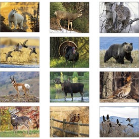 Monogrammed Wildlife Portraits Window Calendar