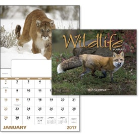 Wildlife Portraits Window Calendar Imprinted with Your Logo