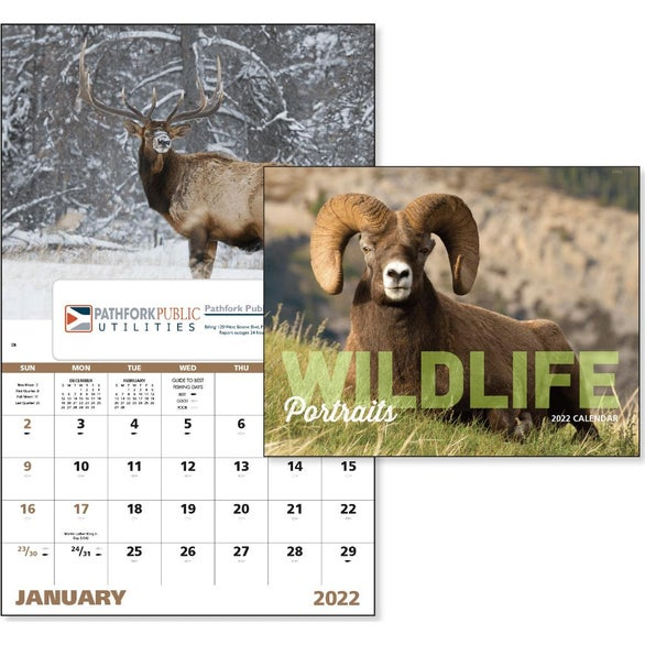 See Item Wildlife Portraits Window Calendar