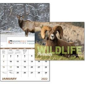 Monogrammed Wildlife Portraits Window Calendar