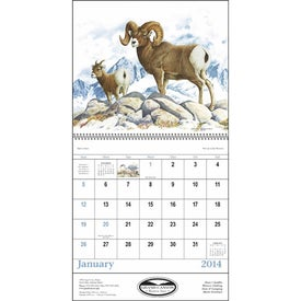 Wildlife Trek Spiral Calendar Branded with Your Logo