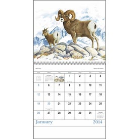 Imprinted Wildlife Trek Spiral Calendar