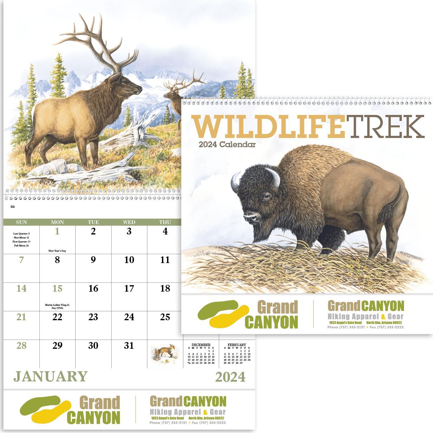 Wildlife Trek Spiral Calendar (2020)