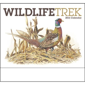 Imprinted Wildlife Trek Stapled Calendar