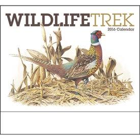 Imprinted Wildlife Trek Stapled Calendar