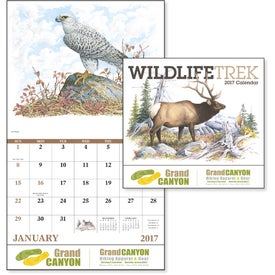 Personalized Wildlife Trek Stapled Calendar