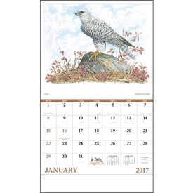 Advertising Wildlife Trek Stapled Calendar