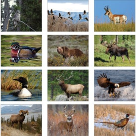 Monogrammed Wildlife Wall Calendar