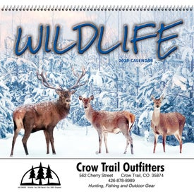 Personalized Wildlife Wall Calendar