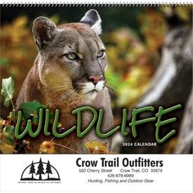 Personalized Wildlife Wall Calendar