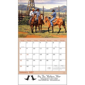 Wildlife Wall Calendar with Your Slogan