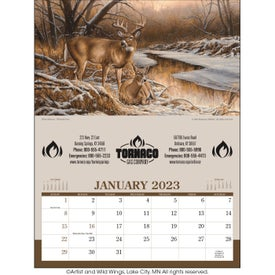 Wildlife Art - Executive Calendar Printed with Your Logo