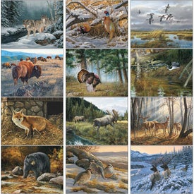 Customized Wildlife Art Executive Calendar