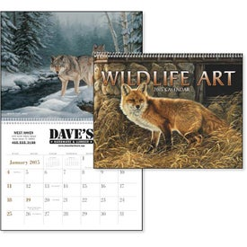 "Wildlife Art Executive Calendar (11"" x 17"", 2017)"