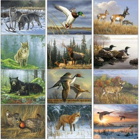 Printed Wildlife Art by the Hautman Brothers Calendar