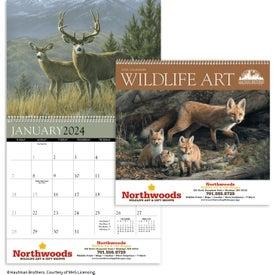 Imprinted Wildlife Art by the Hautman Brothers Calendar