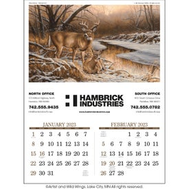 "Wildlife Art Executive Calendar (17"" x 23"", 2020)"