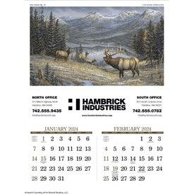 "Wildlife Art Executive Calendar (17"" x 23"", 2020)"