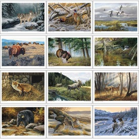 Branded Wildlife Art Executive Calendar