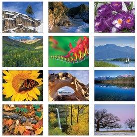 Wildlife Art Executive Calendar with Your Slogan