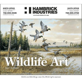 "Wildlife Art Executive Calendar (2021, Spiral, 14"" x 23"")"