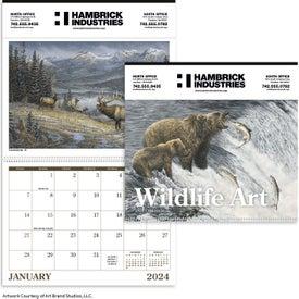 "Wildlife Art Executive Calendar (14"" x 23"", 2020)"