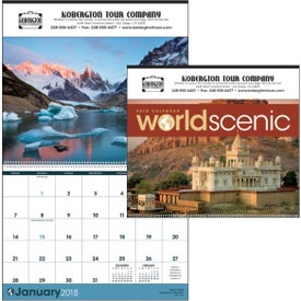 Branded World Scenic Executive Calendar