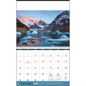 Printed World Scenic Executive Calendar