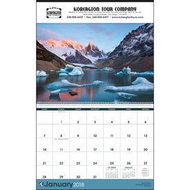 Monogrammed World Scenic Executive Calendar