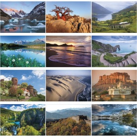 World Scenic Executive Calendar Printed with Your Logo