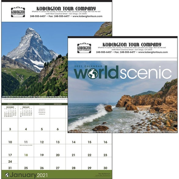 See Item World Scenic Executive Calendar