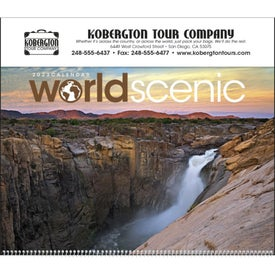 World Scenic Executive Calendar Branded with Your Logo