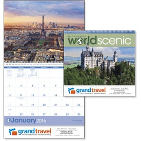 Branded World Scenes Appointment Calendar