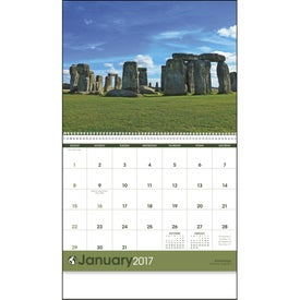 World Scenes Appointment Calendar Branded with Your Logo